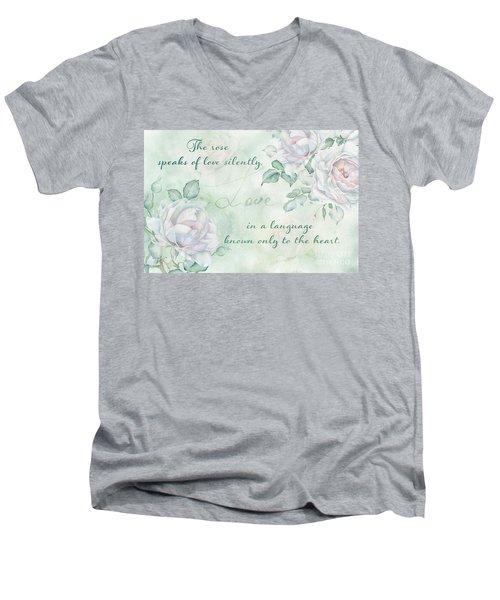 The Rose Speaks Of Love Men's V-Neck T-Shirt