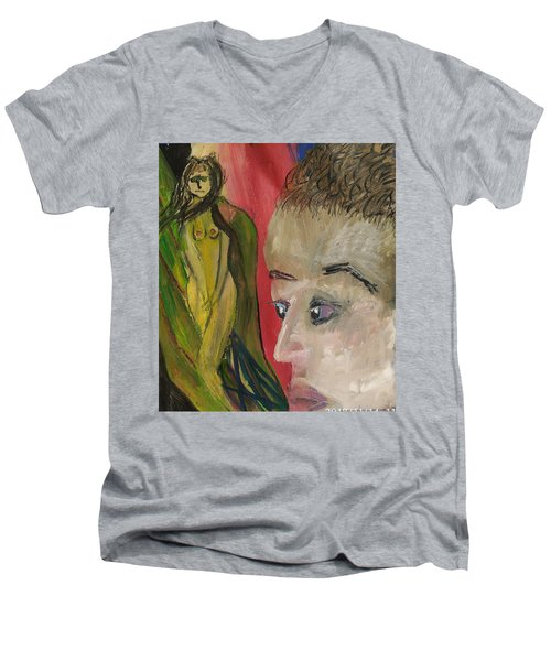 The Sexy Man With The Watery Blue Eyes Men's V-Neck T-Shirt