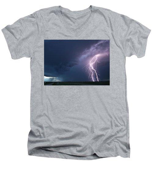 The Sky Is Alive Men's V-Neck T-Shirt