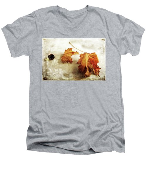 Men's V-Neck T-Shirt featuring the photograph The Sound Of Autumn by Randi Grace Nilsberg