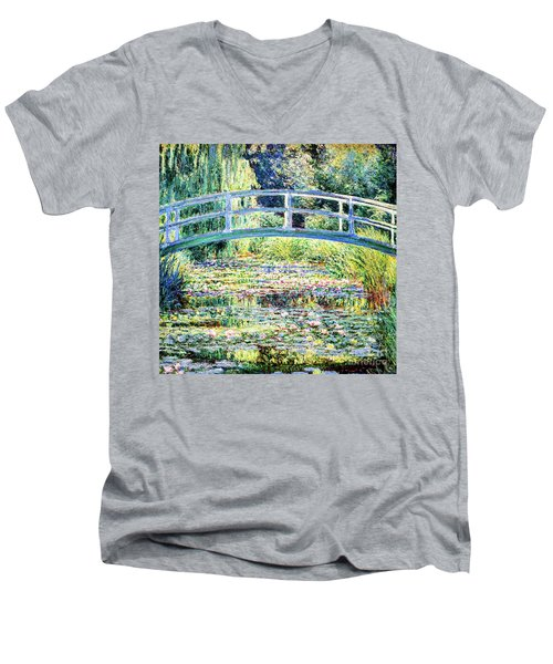 The Water Lily Pond By Monet Men's V-Neck T-Shirt
