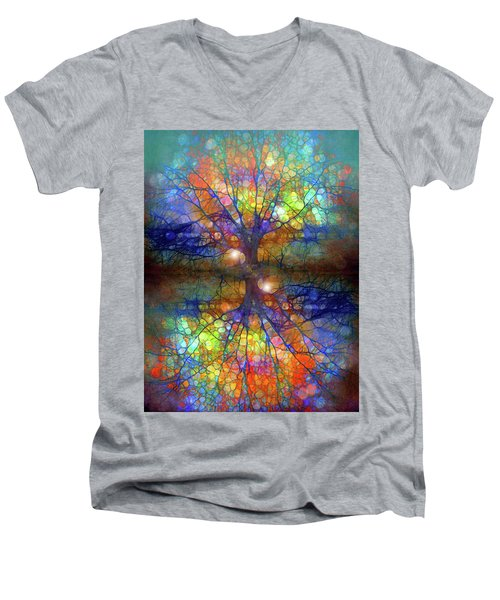 There Is Light Even In These Dark Roots Men's V-Neck T-Shirt