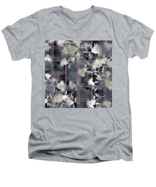 Thistle Plaid  Men's V-Neck T-Shirt