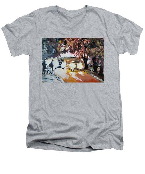 Early Morning Walk Men's V-Neck T-Shirt