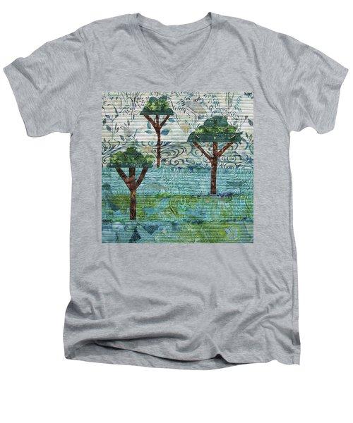 Three Trees Men's V-Neck T-Shirt