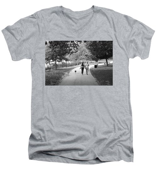 Threes A Company Men's V-Neck T-Shirt
