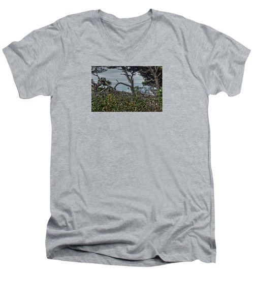 Men's V-Neck T-Shirt featuring the photograph Through The Foliage by Thom Zehrfeld