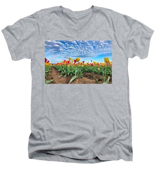 Touch The Sky Men's V-Neck T-Shirt