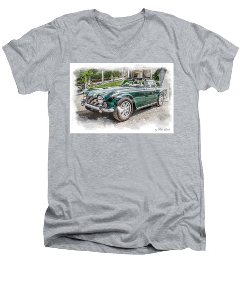 Triumph Tr5 At Roman Gardens Men's V-Neck T-Shirt