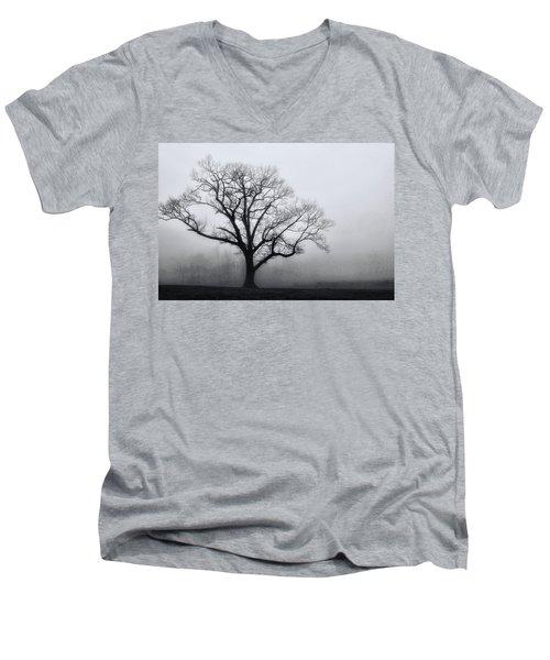 Trees In Fog # 2 Men's V-Neck T-Shirt