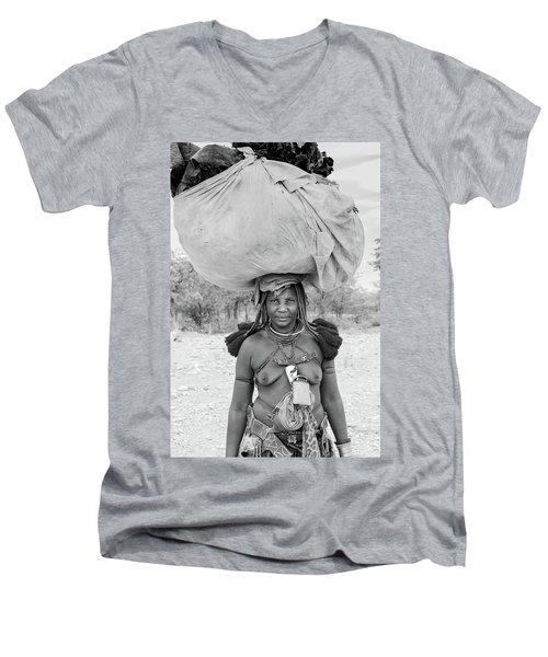 Tribes Portrait Men's V-Neck T-Shirt