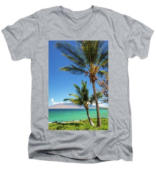 Tropical Aloha Men's V-Neck T-Shirt