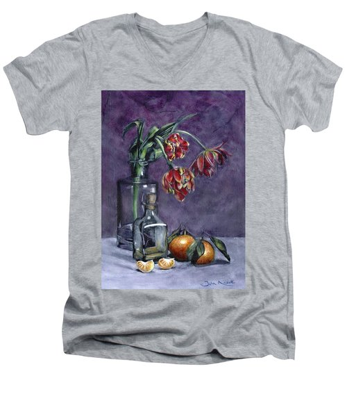 Tulips And Oranges Men's V-Neck T-Shirt