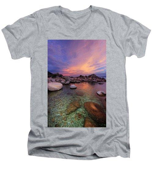 Twilight Canvas  Men's V-Neck T-Shirt