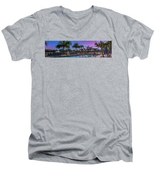 Twilight Pool Men's V-Neck T-Shirt