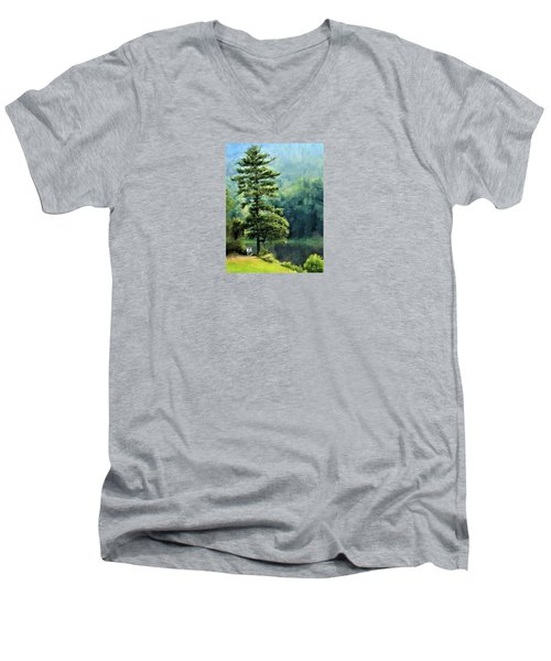 Two Guys And A Pond Men's V-Neck T-Shirt