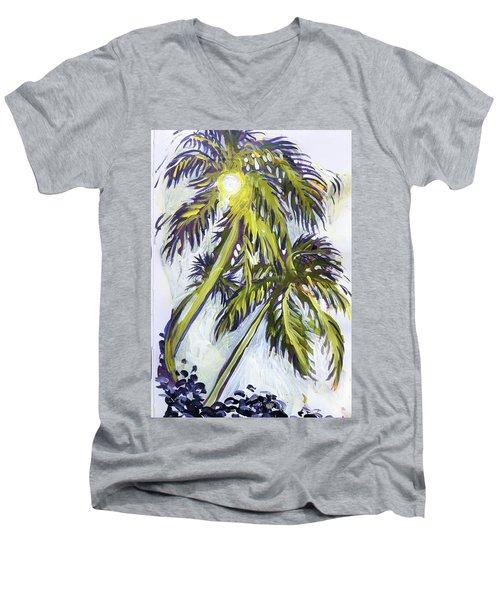 Two Palm Sketch Men's V-Neck T-Shirt