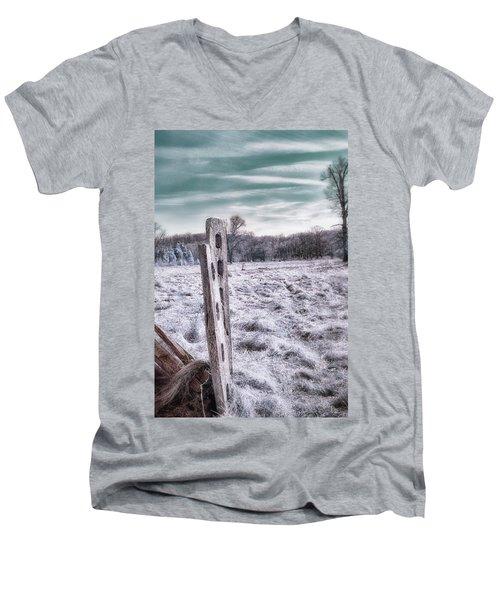 Two Posts Men's V-Neck T-Shirt