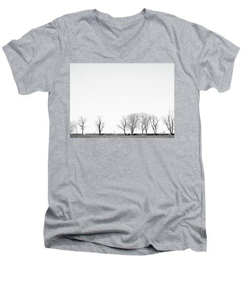 Under A Winter Sky Men's V-Neck T-Shirt