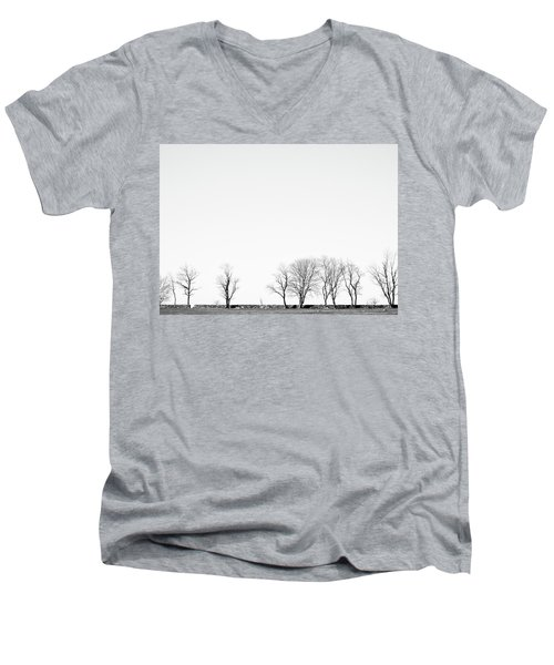 Under A Winter Sky Men's V-Neck T-Shirt