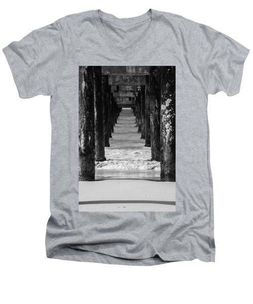 Under The Pier #2 Bw Men's V-Neck T-Shirt