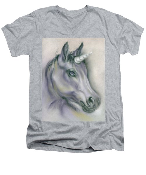 Unicorn Portrait Men's V-Neck T-Shirt
