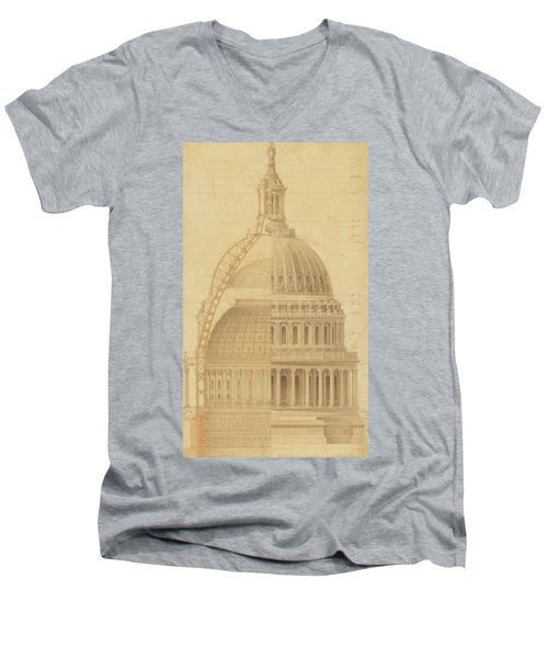 United States Capitol, Section Of Dome, 1855 Men's V-Neck T-Shirt