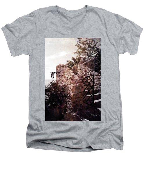 Men's V-Neck T-Shirt featuring the photograph Vacation Mood by Randi Grace Nilsberg