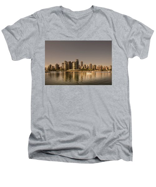 Vancouver Golden Light Hour Men's V-Neck T-Shirt