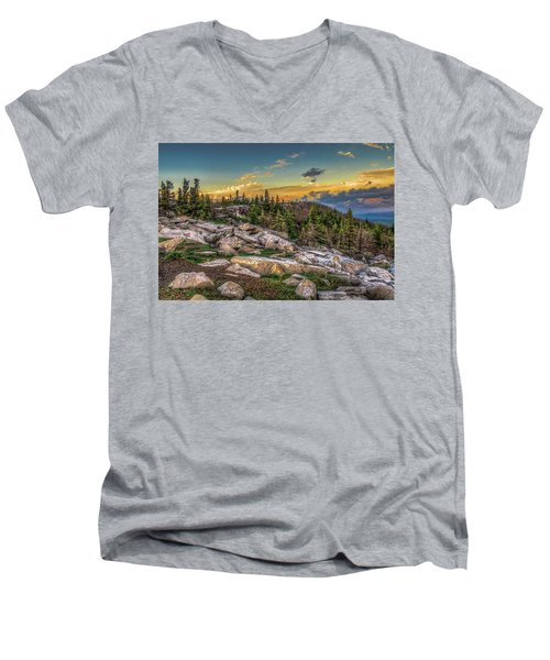View From Dolly Sods 4714 Men's V-Neck T-Shirt