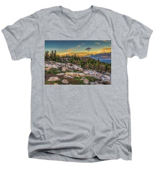 View From Dolly Sods 4714 Men's V-Neck T-Shirt