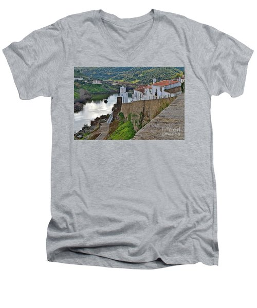 View From The Medieval Castle Men's V-Neck T-Shirt
