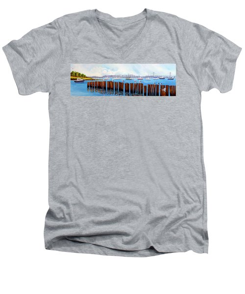View From The Moshier's Tiki Bar Men's V-Neck T-Shirt