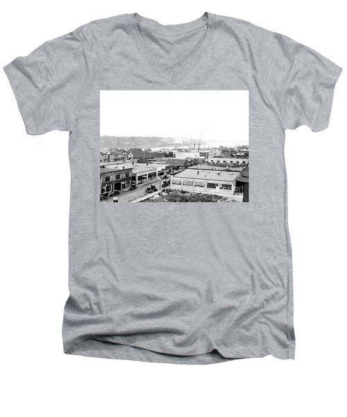 View Nw Over Olympia From Elks Building On Capitol Way 1929 Men's V-Neck T-Shirt