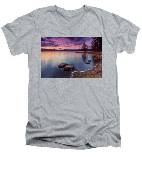 Violet Dusk Men's V-Neck T-Shirt