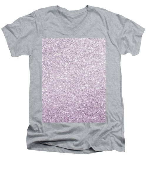 Violet Glitter Men's V-Neck T-Shirt