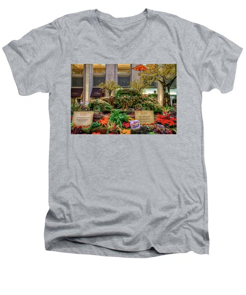Vw Bug Planter Men's V-Neck T-Shirt