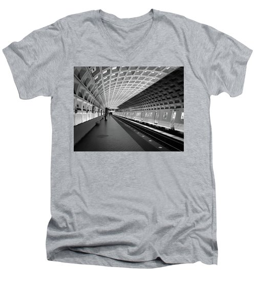 Waiting At Pentagon City Station Men's V-Neck T-Shirt