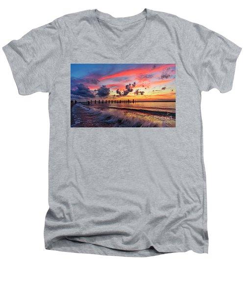 Wake Ripples Men's V-Neck T-Shirt