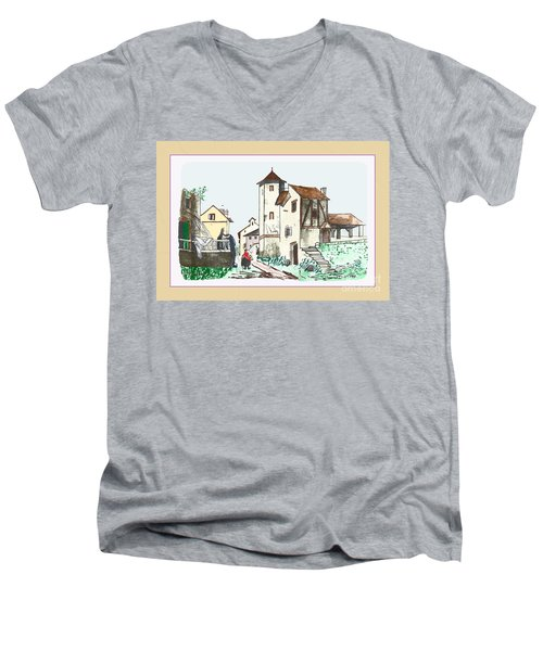 Walk Through Town Men's V-Neck T-Shirt
