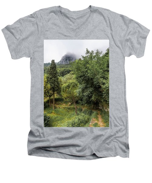 Walking Along The Mountain Path Men's V-Neck T-Shirt