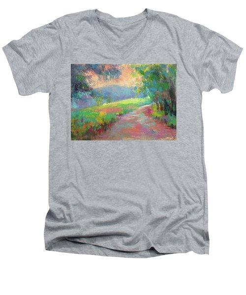 Walking By Faith Men's V-Neck T-Shirt