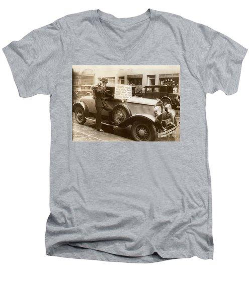 Wall Street Crash, 1929 Men's V-Neck T-Shirt