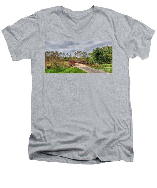Walnut Woods Bridge - 3 Men's V-Neck T-Shirt