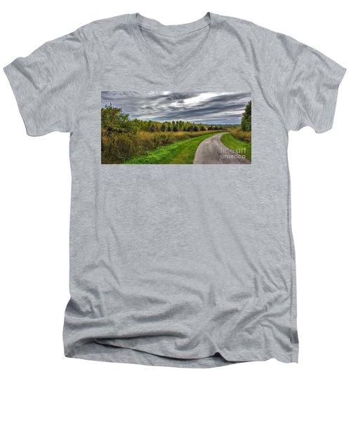 Walnut Woods Pathway - 2 Men's V-Neck T-Shirt