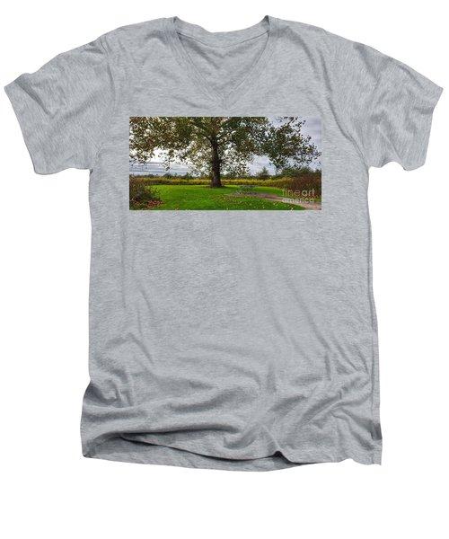 Walnut Woods Tree - 1 Men's V-Neck T-Shirt
