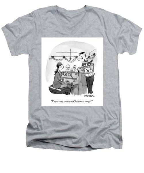War On Christmas Men's V-Neck T-Shirt