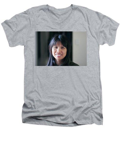 Waree's Lovely Smile Men's V-Neck T-Shirt