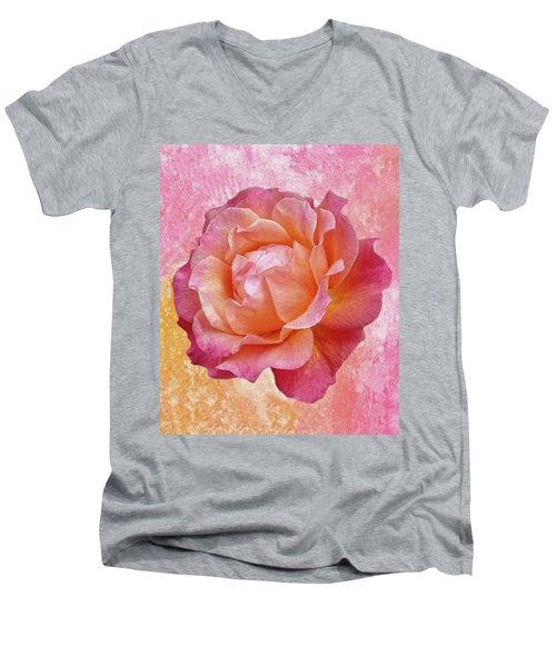 Warm And Crunchy Rose Men's V-Neck T-Shirt