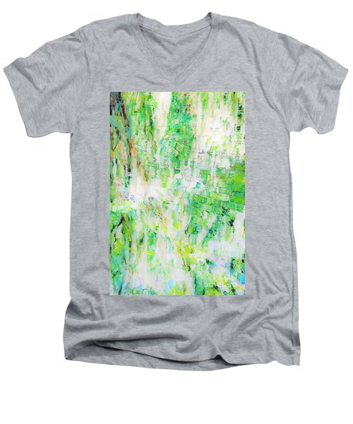 Water Colored  Men's V-Neck T-Shirt